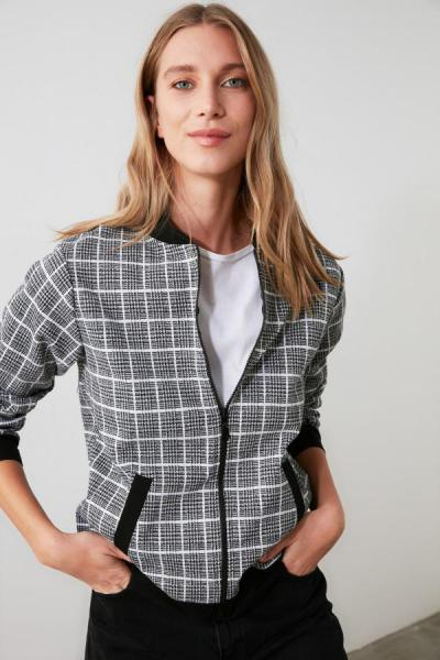 خرید انلاین ژاکت طرح دار مارک ترندیول میلا رنگ نقره ای کد ty49812204