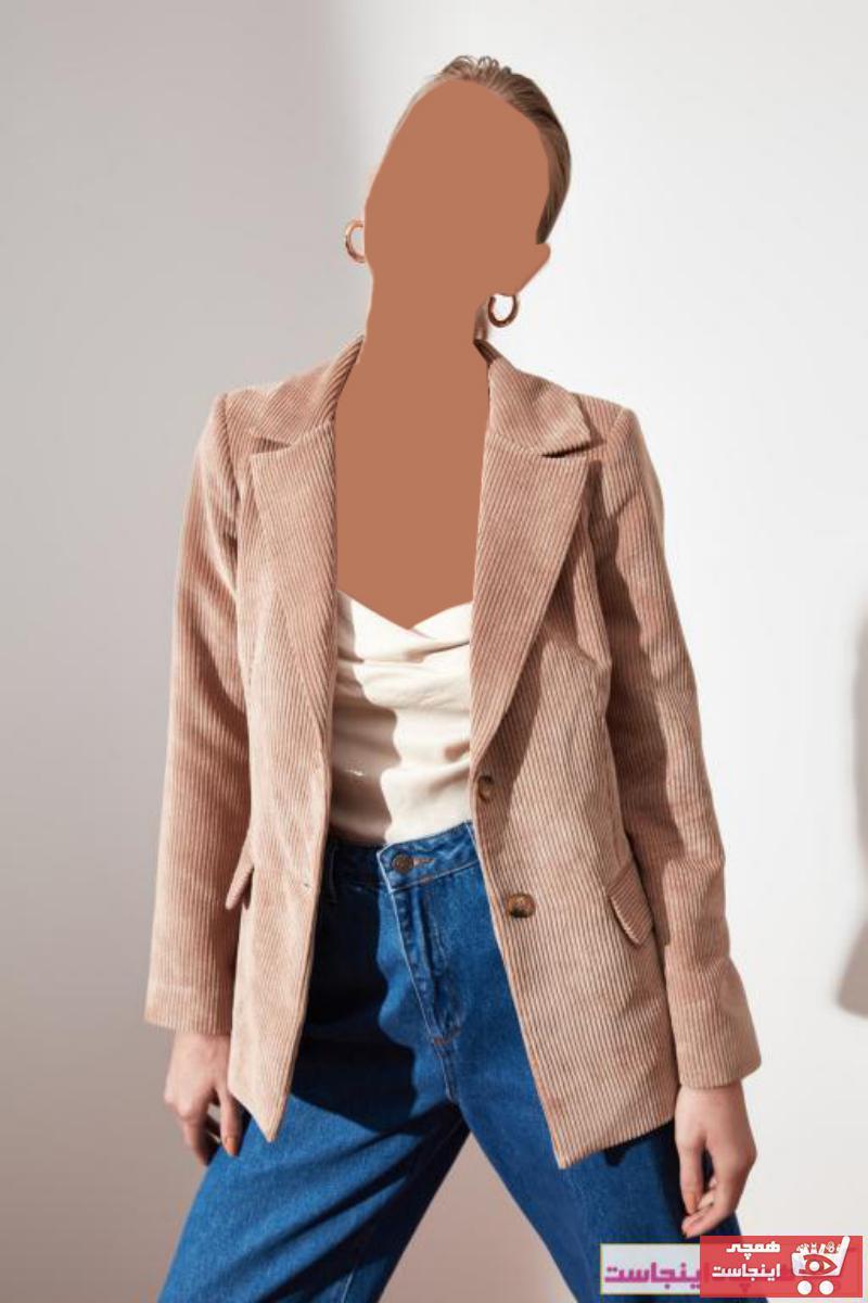 سفارش ژاکت زنانه ارزان برند ترندیول میلا ترک رنگ بژ کد ty49879376