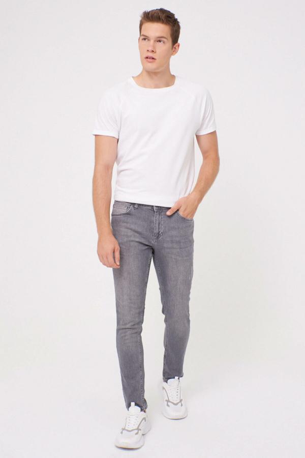 شلوار جین طرح دار برند ال سی وایکیکی ترک رنگ نقره ای کد ty49955978