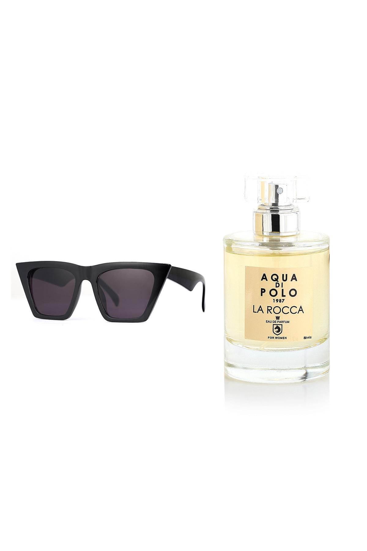 عینک آفتابی شیک زنانه برند Aqua Di Polo 1987 رنگ مشکی کد ty50031614