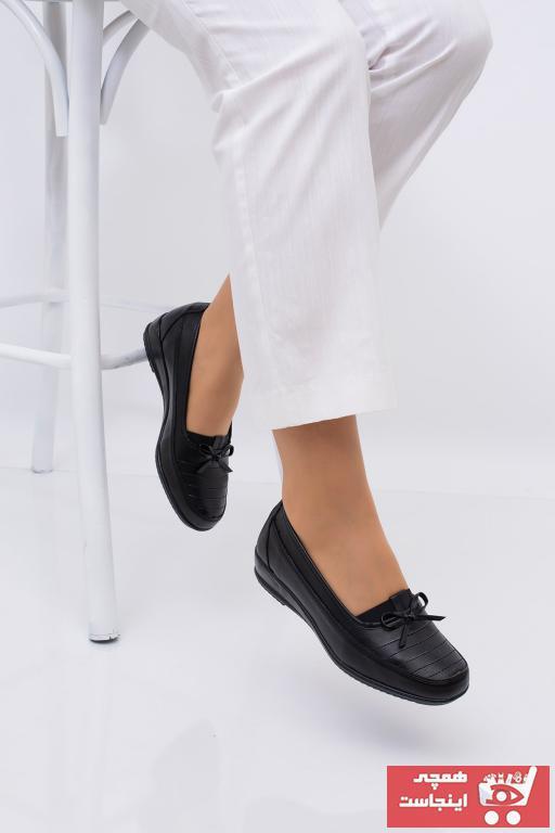 کفش تخت زنانه مدل دار برند THE FRİDA SHOES رنگ مشکی کد ty50090587
