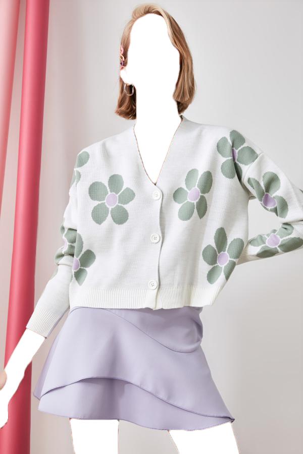 خرید اینترنتی ژاکت بافتی بلند برند TRENDYOLMİLLA رنگ بژ کد ty50116169