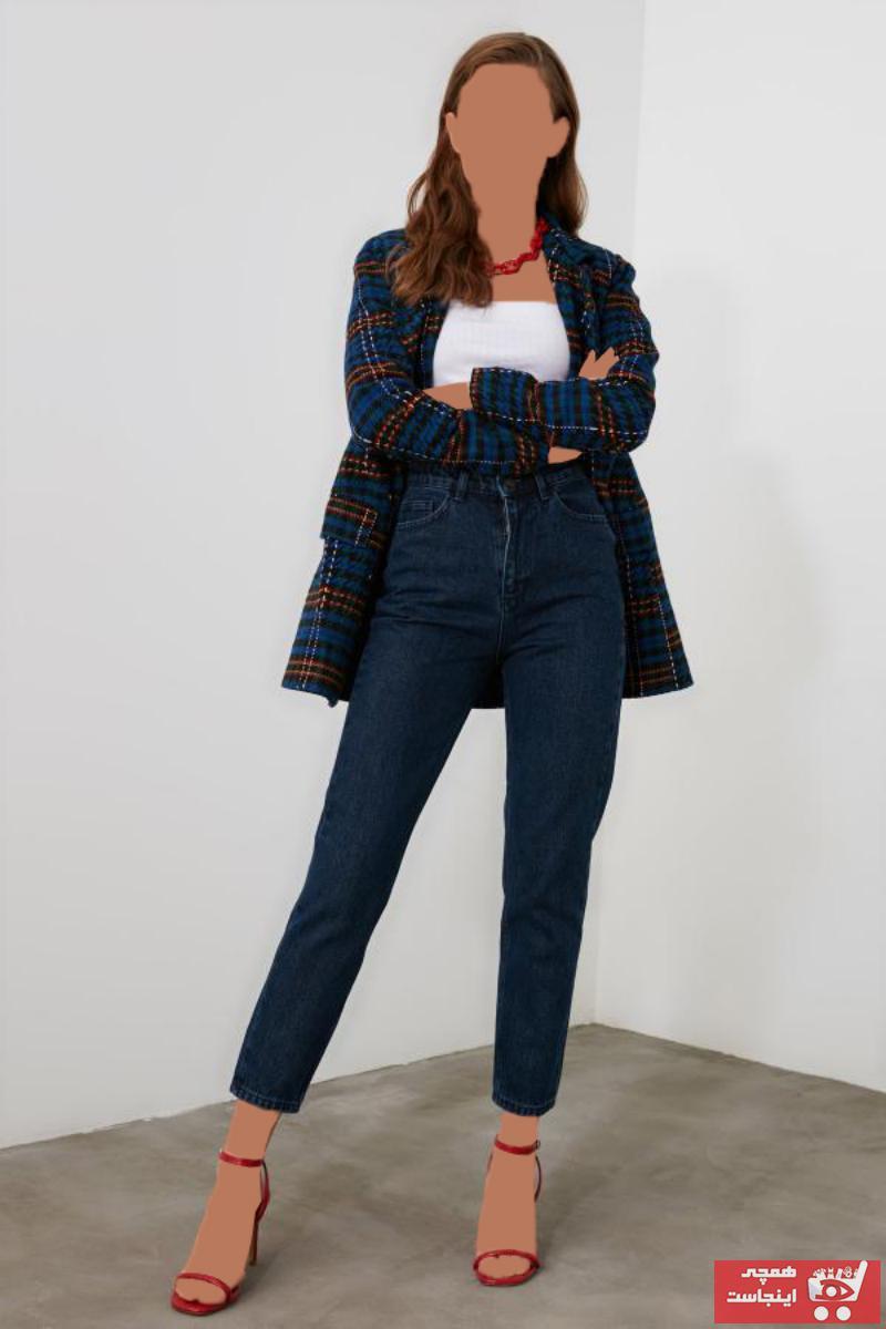 خرید ارزان شلوار جین زنانه اسپرت برند ترندیول میلا رنگ آبی کد ty50122907