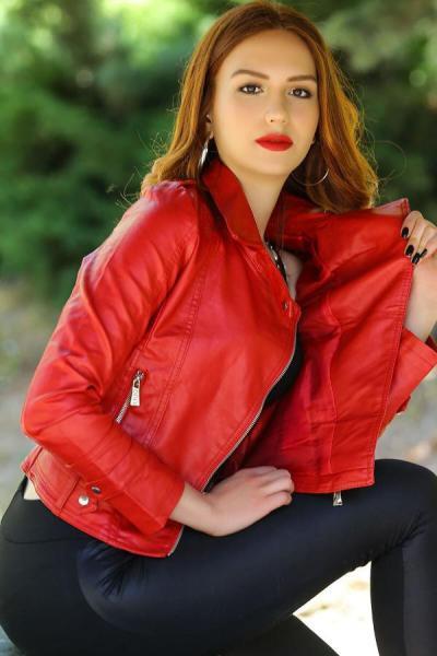 کاپشن چرم زنانه اسپرت جدید برند Giyimhane رنگ قرمز ty50160492