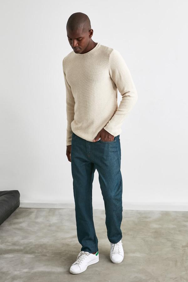 شلوار جین خفن مارک ترندیول مرد رنگ لاجوردی کد ty50189330