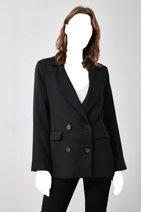 خرید انلاین ژاکت طرح دار برند ترندیول میلا ترک رنگ مشکی کد ty50310610