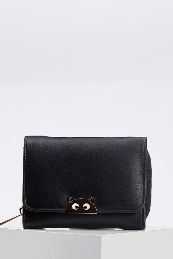 خرید مدل کیف پول دخترانه برند دفاکتو ترکیه رنگ مشکی کد ty50316524