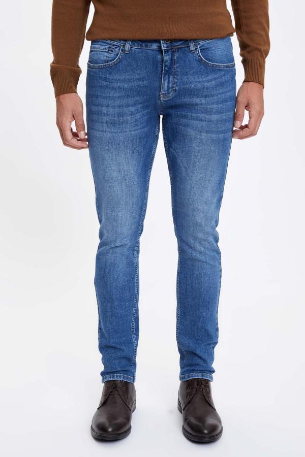 شلوار جین فانتزی مردانه برند دفاکتو ترک رنگ آبی کد ty50316716