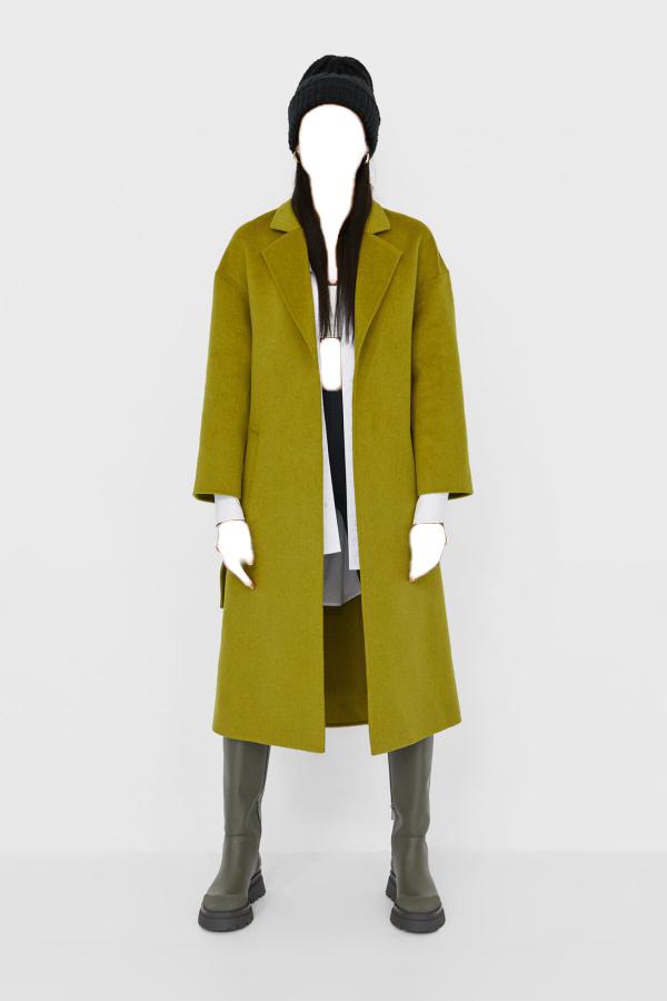 پالتو زمستانی زنانه برند Stradivarius رنگ سبز کد ty50348357