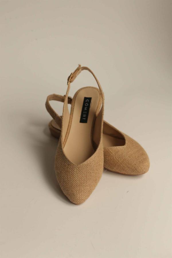 کفش تخت زنانه شیک مجلسی برند Cömert Ayakkabı رنگ بژ کد ty50779553