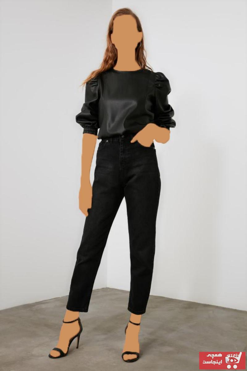 شلوار جین زنانه قیمت مناسب برند ترندیول میلا رنگ مشکی کد ty50788134