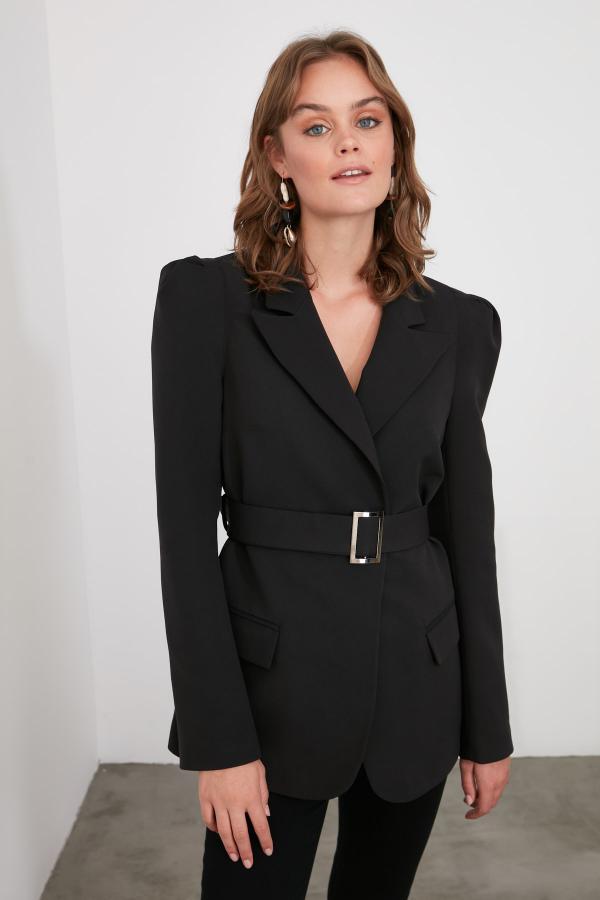 حرید اینترنتی ژاکت زنانه ارزان برند ترندیول میلا ترک رنگ مشکی کد ty50830532