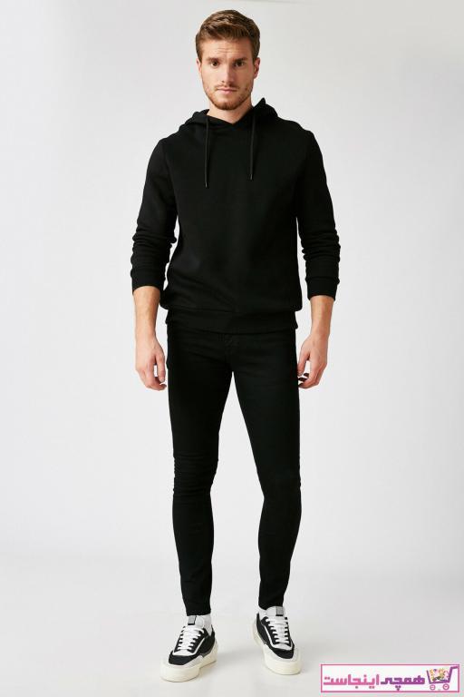 شلوار جین فانتزی مردانه برند کوتون رنگ مشکی کد ty50830970