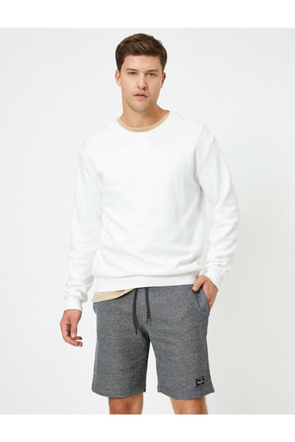 فروش شلوارک مردانه خفن برند کوتون رنگ نقره ای کد ty50975557