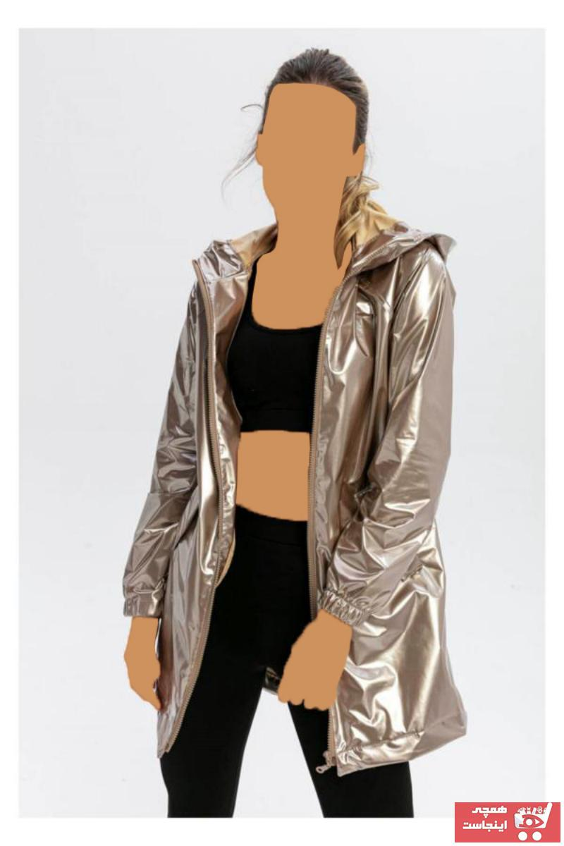 بارانی زنانه مارک دار برند TIFFANY&TOMATO رنگ طلایی ty51057591