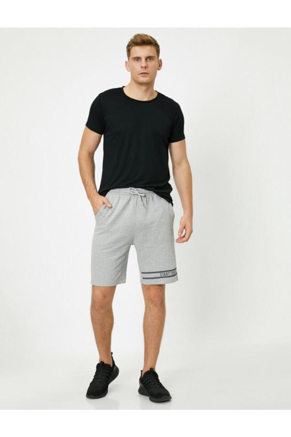 خرید ارزان شلوارک مردانه اسپرت برند کوتون رنگ نقره ای کد ty51158160