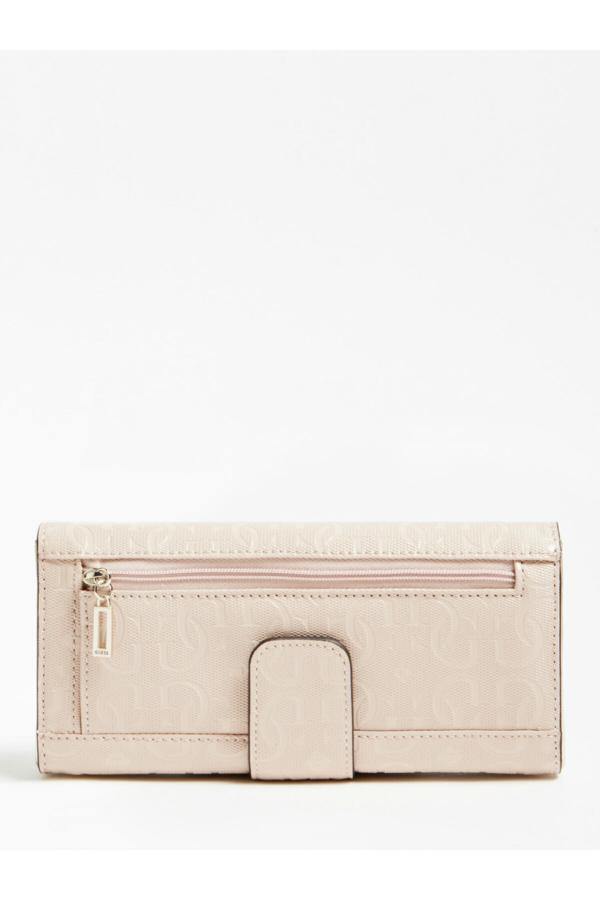 کیف پول جدید دخترانه اصل برند Guess رنگ صورتی ty51292682