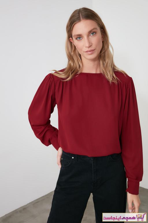 خرید پستی بلوز زیبا برند TRENDYOLMİLLA رنگ زرشکی ty51309755
