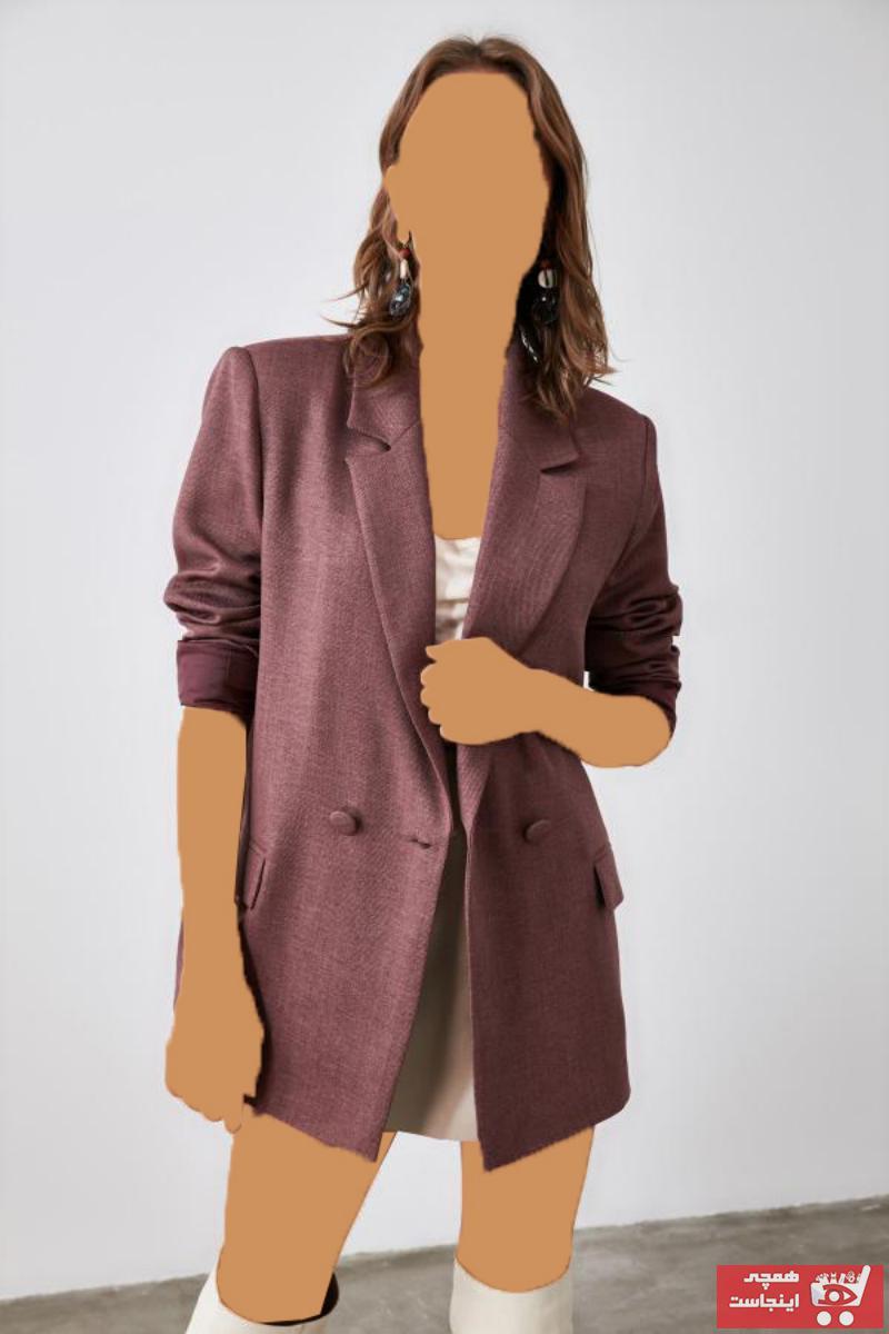 سفارش ژاکت زنانه ارزان مارک ترندیول میلا رنگ صورتی ty51414559