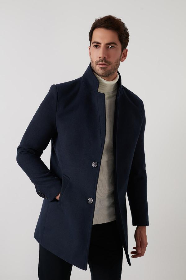 فروش پالتو مردانه جدید برند Buratti رنگ لاجوردی کد ty51499661