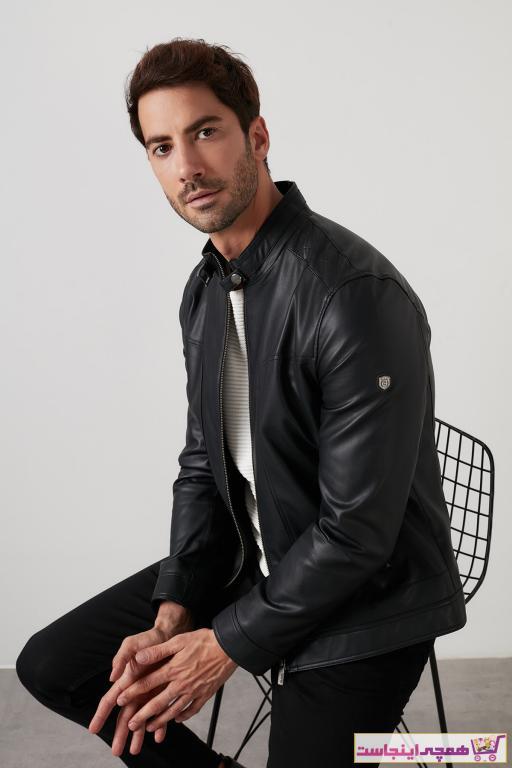خرید نقدی ژاکت چرم مردانه  برند پیرکاردین رنگ قهوه ای کد ty51623096