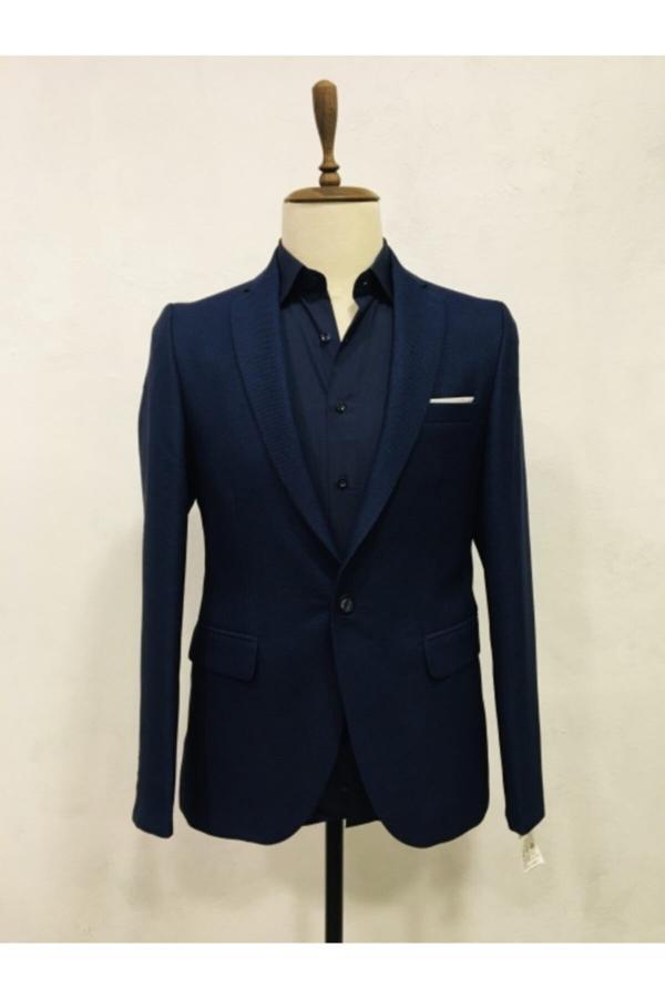 کت تک مردانه ساده برند FZ رنگ لاجوردی کد ty51848551