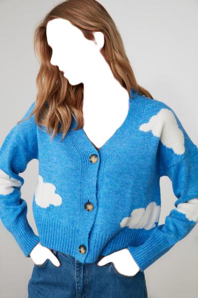 خرید ژاکت بافتی زنانه ست برند TRENDYOLMİLLA رنگ آبی کد ty51865948