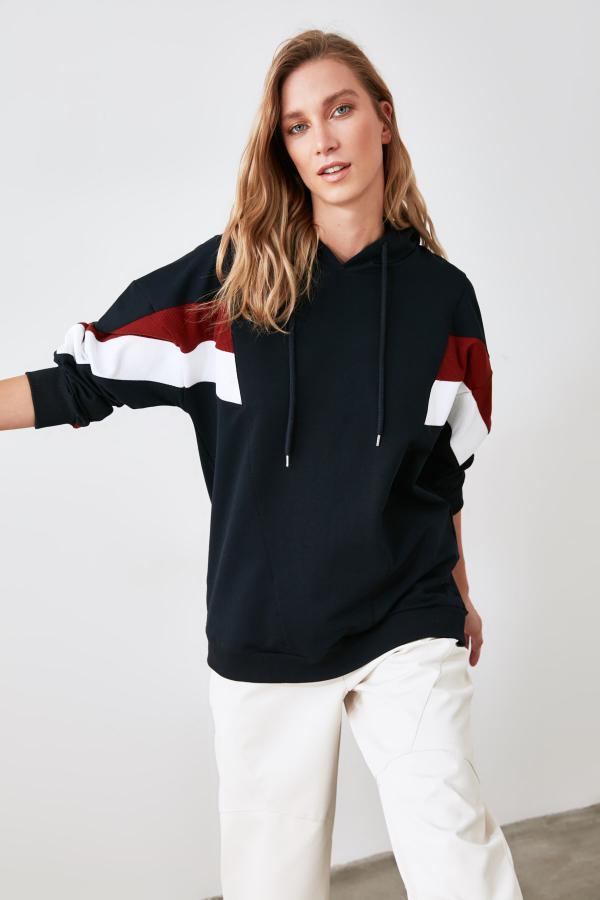 سویشرت زنانه برند TRENDYOLMİLLA رنگ لاجوردی کد ty51891852