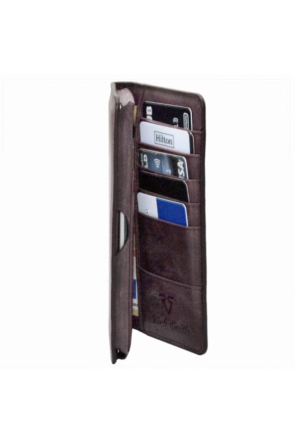 فروش کیف پول مردانه حراجی برند Rich Smith رنگ زرشکی ty52081462