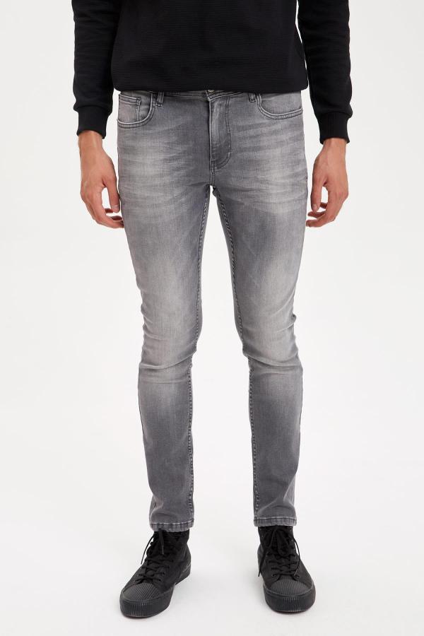 شلوار جین مردانه اسپرت برند دفاکتو رنگ نقره ای کد ty52119806