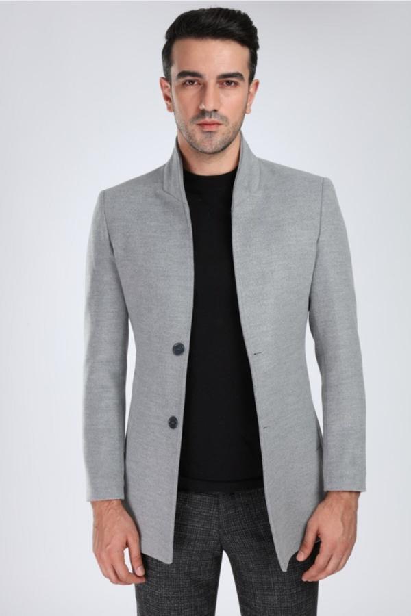 سفارش اینترنتی پالتو فانتزی برند Suitmen رنگ نقره ای کد ty52147966