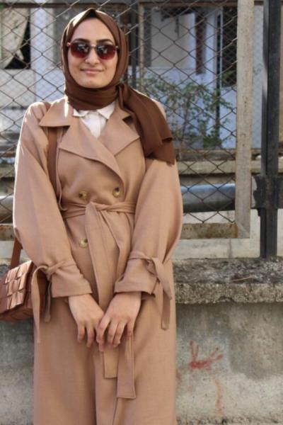 فروش مانتو زمستانی زنانه اصل و جدید برند QASHMİR رنگ قهوه ای کد ty52150020