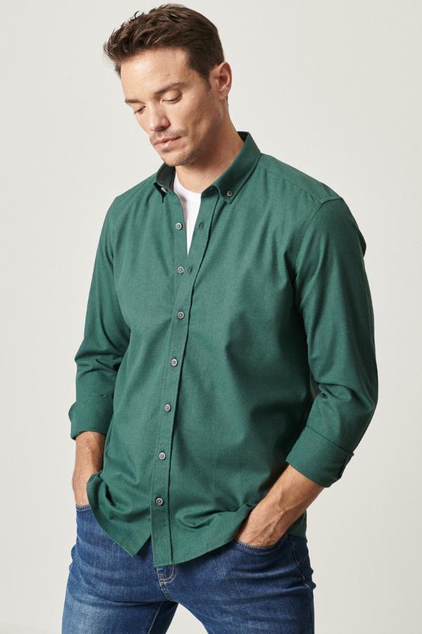 قیمت پیراهن اسپرت مردانه برند ALTINYILDIZ CLASSICS رنگ سبز کد ty52179137