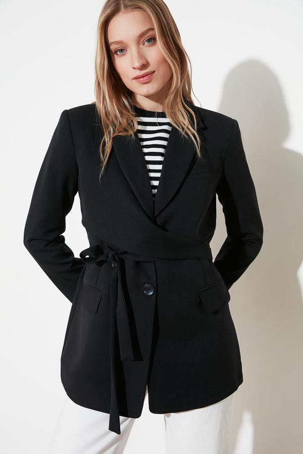 حرید اینترنتی ژاکت زنانه ارزان برند TRENDYOLMİLLA رنگ مشکی کد ty52199861