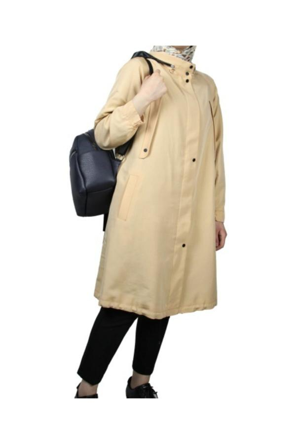 مانتو زمستانی زنانه مدل 2020 برند Kayra رنگ بژ کد ty52210391
