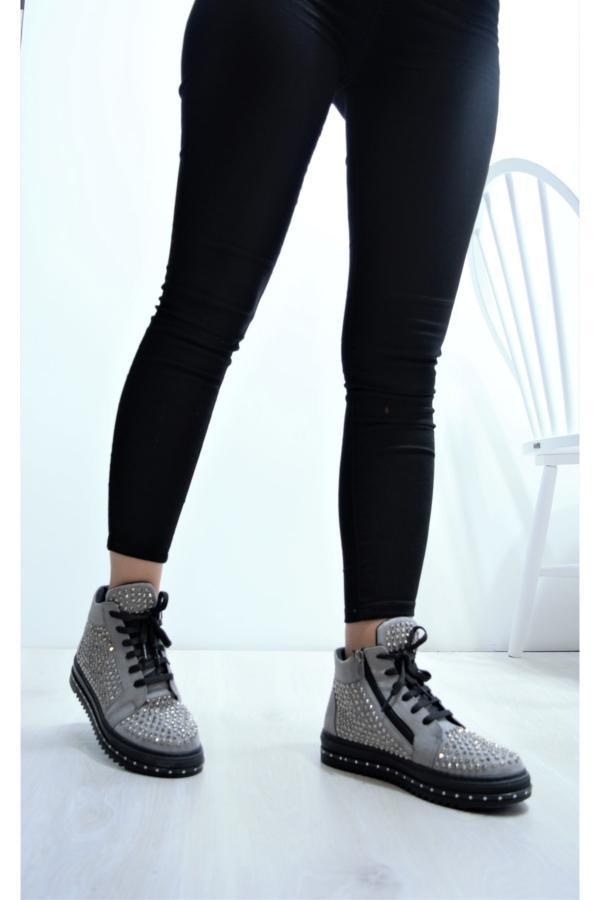 خرید پستی نیم بوت شیک زنانه برند My Fit رنگ نقره ای کد ty52235454