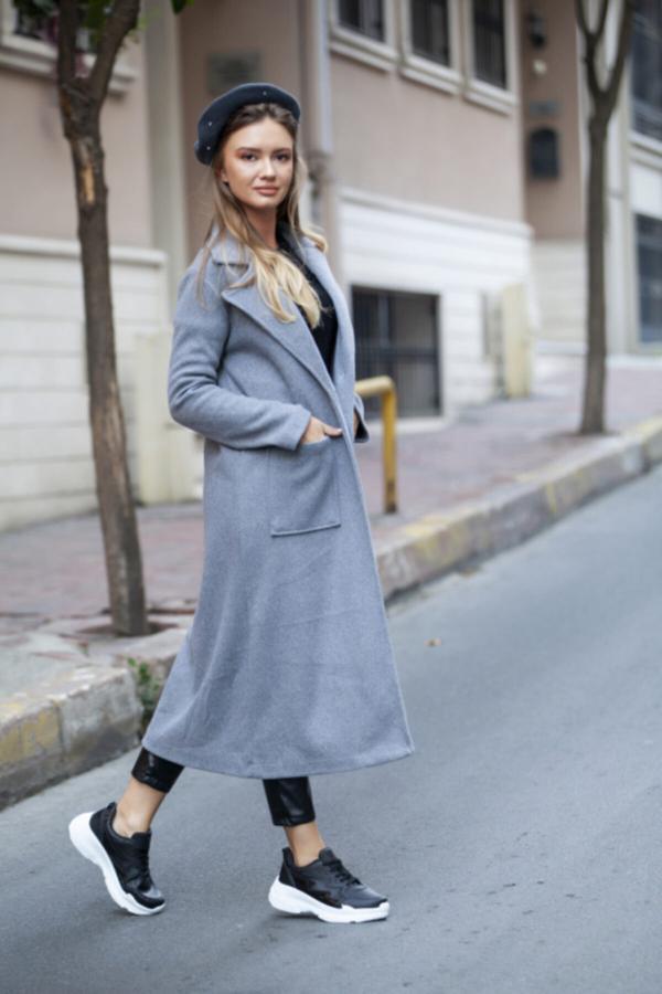 مانتو پاییزی زنانه ست برند marka perisi رنگ نقره ای کد ty52267970