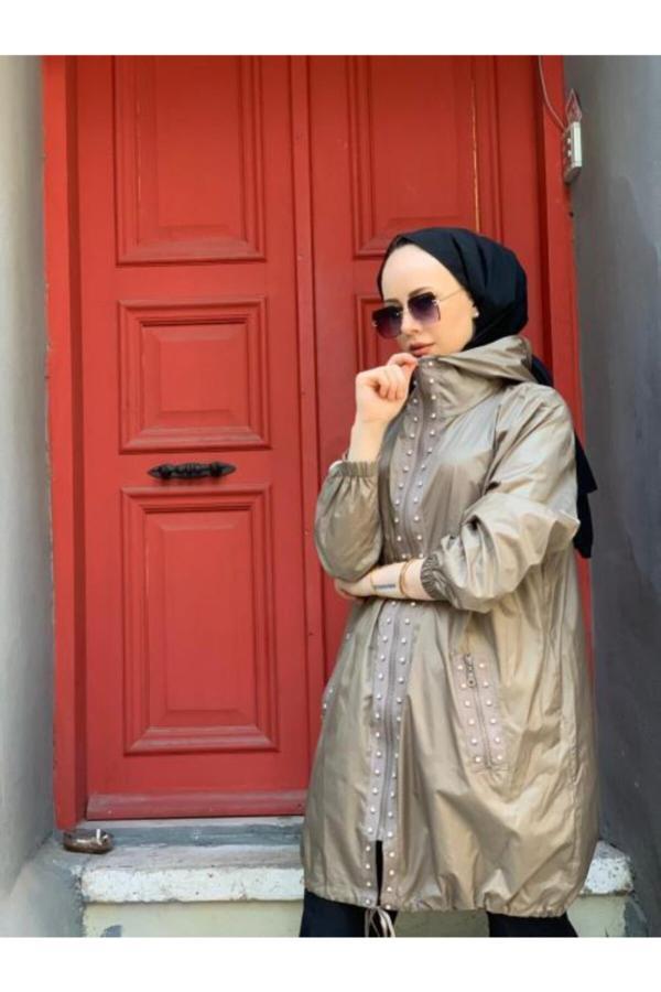 مانتو پاییزی زنانه خاص برند Jupe رنگ قهوه ای کد ty52275748