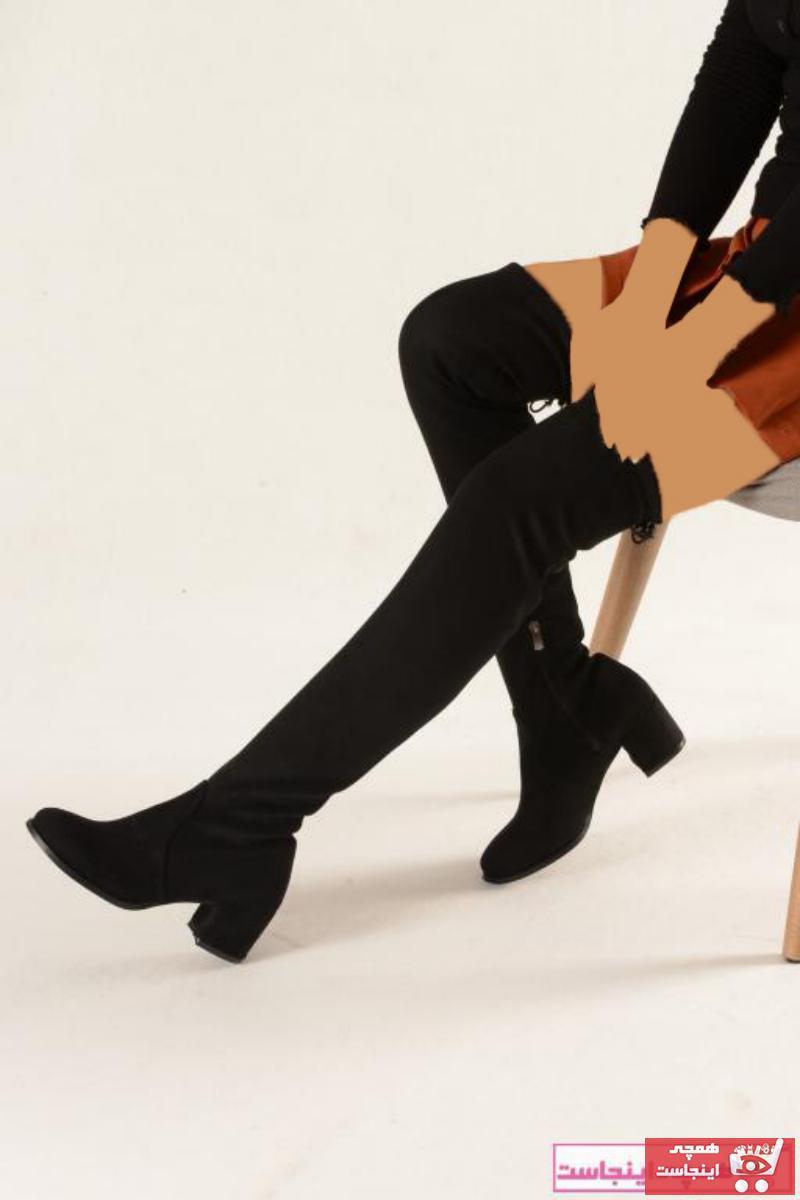 خرید پستی چکمه دخترانه برند Nil Shoes رنگ مشکی کد ty52279666