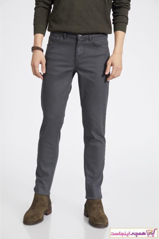 شلوار جین مردانه مارک دار برند آوا رنگ نقره ای کد ty52327729