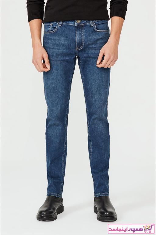 خرید ارزان شلوار جین فانتزی مردانه برند آوا رنگ آبی کد ty52327743