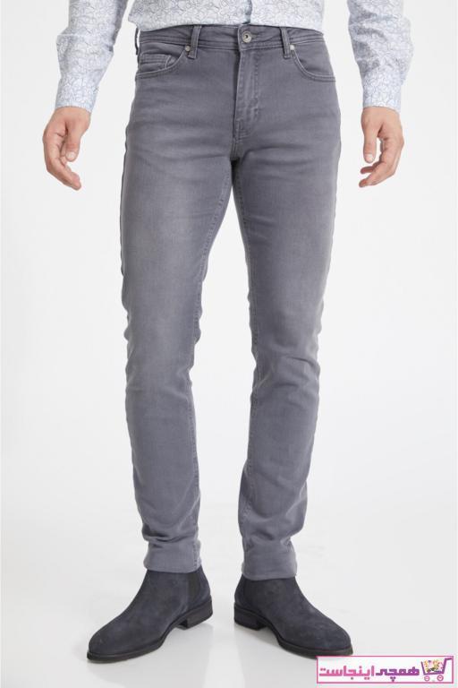 خرید پستی شلوار جین شیک برند آوا رنگ نقره ای کد ty52327759