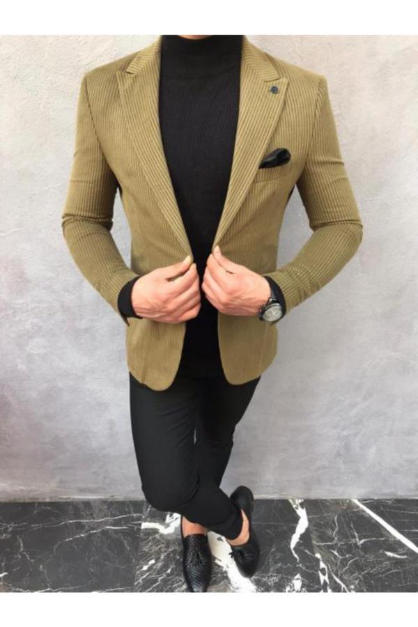 مدل ژاکت 2020 برند Bycool Fashion رنگ خاکی کد ty52405316
