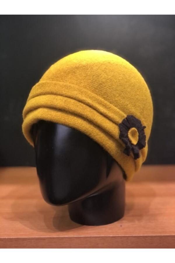 کلاه زنانه فروشگاه اینترنتی برند Şapkacımadam رنگ زرد ty52419847