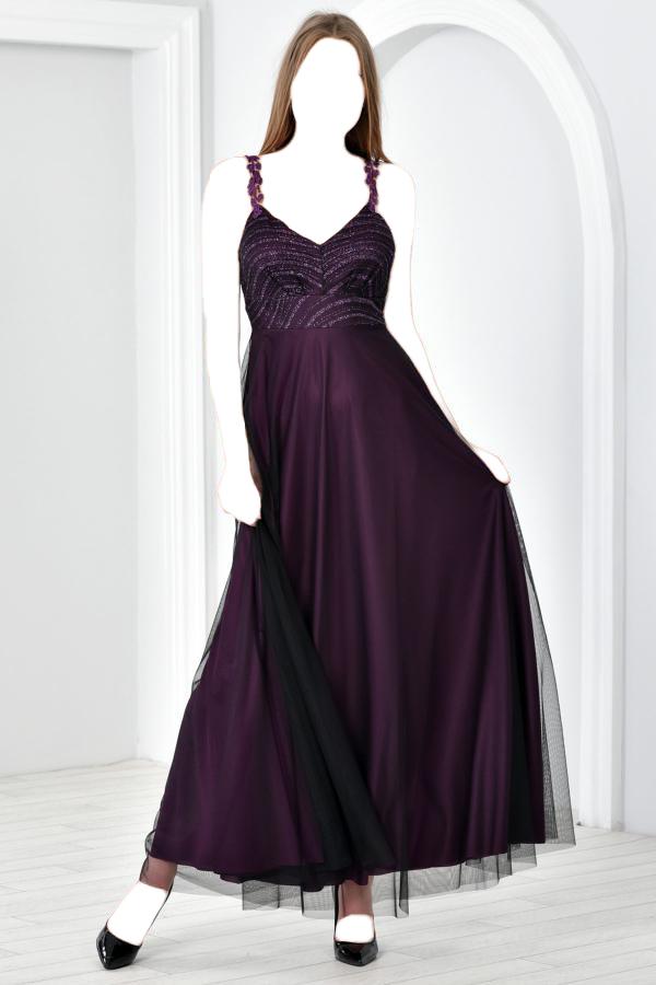 لباس مجلسی زنانه شیک و جدید برند Zenlife رنگ بنفش کد ty52420310