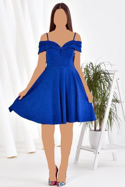 لباس مجلسی طرح دار برند Zenlife رنگ لاجوردی کد ty52420619