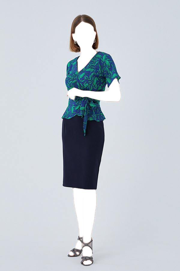 دامن زنانه تابستانی برند PAULMARK رنگ لاجوردی کد ty52442536