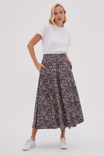 خرید انلاین دامن طرح دار برند Kayra رنگ لاجوردی کد ty52512584