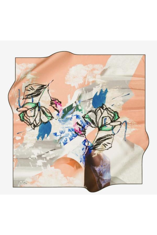 فروشگاه روسری دخترانه سال ۹۹ مارک پیرکاردین رنگ بژ کد ty52525084