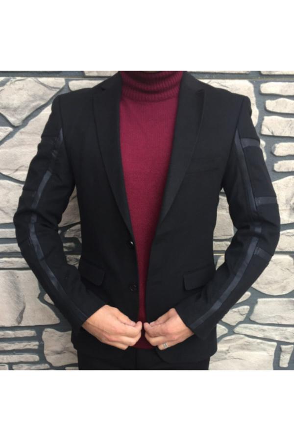 خرید انلاین پالتو جدید مردانه شیک برند Polim Pier رنگ مشکی کد ty52525217